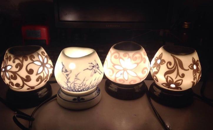 đèn xong tinh dầu