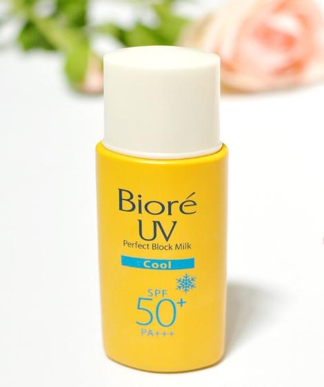 Kem chống nắng Biore UV Perfect Block Milk Cool SPF 50 PA